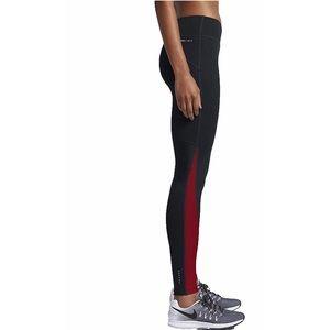 NIKE Dri-Fit Power Running Leggings Black Red